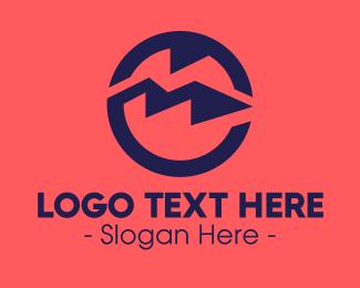 Mountain Top - Blue Mountain Circle logo design