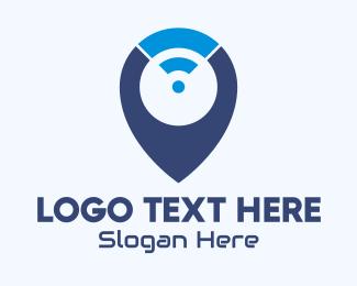 Connection - Internet Connection Locator logo design
