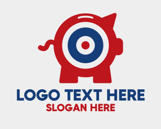 Bank - Target Piggy Bank logo design