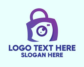Travel Vlog - Purple Camera Bag logo design