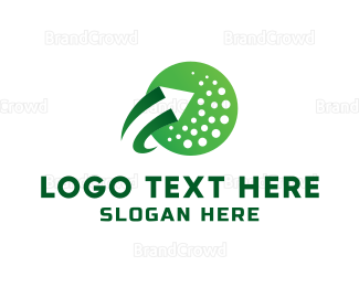 Hole - Ricochet Golf  logo design