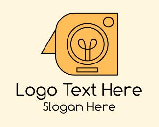 Flash - Camera Flash Bulb  logo design