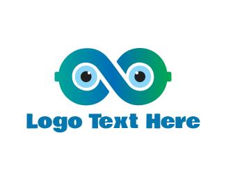 View - Infinity Eyes logo design