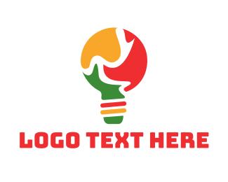 Lamp - Puzzle Lamp logo design