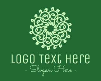 Ornamental - Green Ornamental Flower logo design