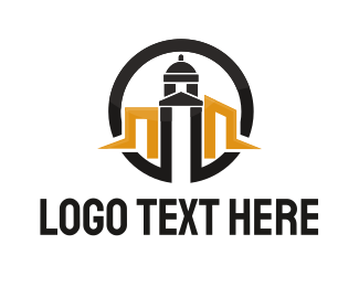 Tower - Dome Tower logo design