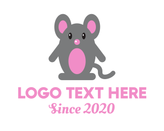 Day Care - Cute Baby Mouse logo design
