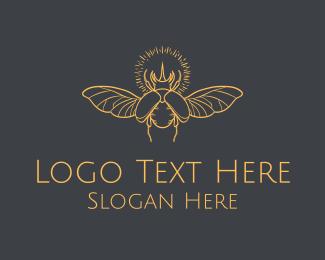 Orb - Golden Beetle Orb logo design
