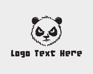 Sketch - Angry Panda Sketch logo design