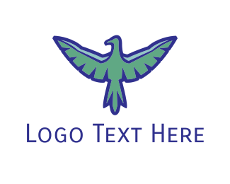 Army - Blue Vulture logo design