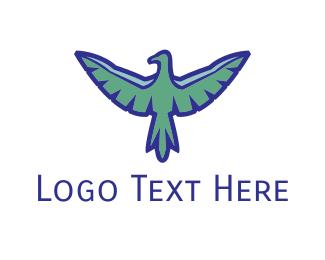 Vulture - Blue Vulture logo design