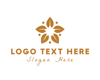 Pretty - Golden Leaves logo design