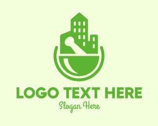 Prescription Drugs - Green City Pharmacy logo design