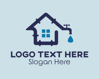 House - House Plumbing Plumber logo design
