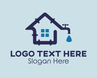 Water - House Plumbing logo design