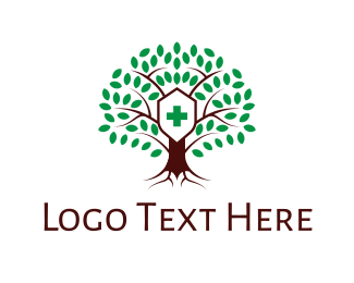 Wellbeing - Hospital Tree logo design