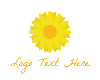 Tuscany - Yellow Bloom Flower logo design
