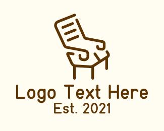 Wooden - Wooden Recliner Armchair logo design