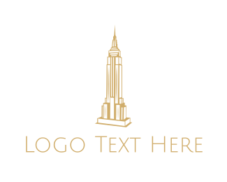 Ny - Empire State Outline logo design