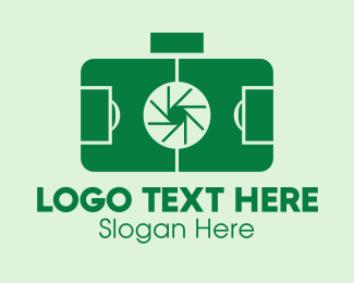 Sports Photographer - Soccer Field Camera  logo design