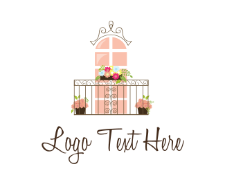 Accomodation - Flower Balcony logo design