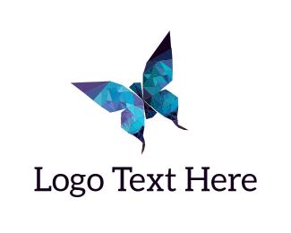Mosaic - Crystal Butterfly logo design