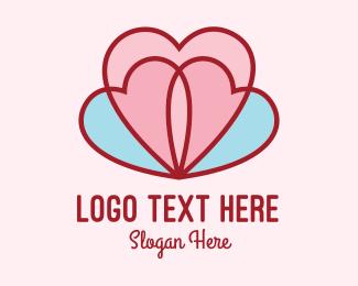 Flower Boutique - Lovely Lotus Hearts logo design