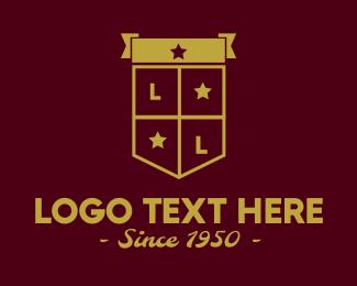 University - Golden Club Emblem Shield logo design