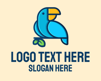 Macaw - Blue Macaw Bird logo design