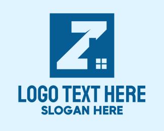 Sell - Blue Housing Letter Z logo design