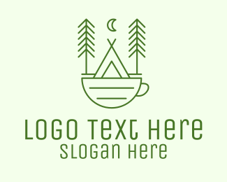 Coffee Stall - Green Tent Cafe logo design