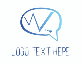 Web - Web Chat logo design