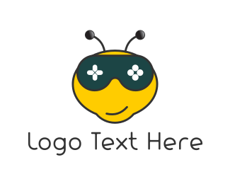 Gamestick - Gamer Bee logo design