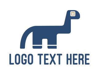 Playhouse - Dinosaur Star logo design