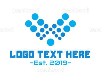 Aqua - Aqua Letter V logo design