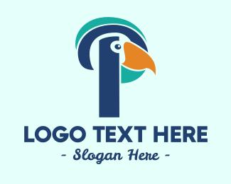 Letter - Parrot Letter P logo design