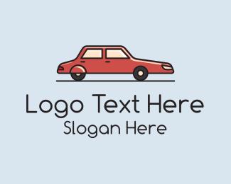 Sedan - Red Sedan logo design