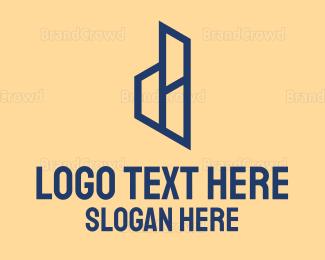 Build - Abstract Letter D logo design