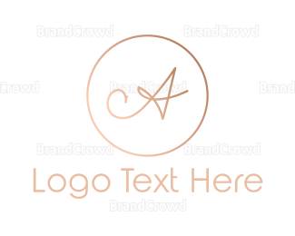 Traditional - Rose Gold Letter A logo design