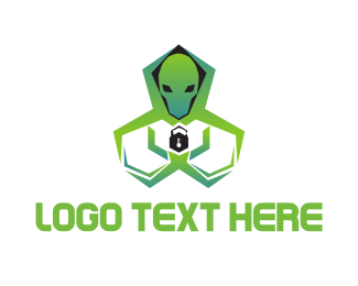 Computer - Alien Security logo design