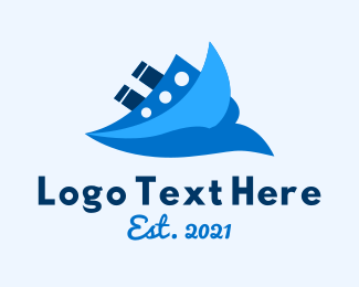Travel - Ocean Travel Boat logo design
