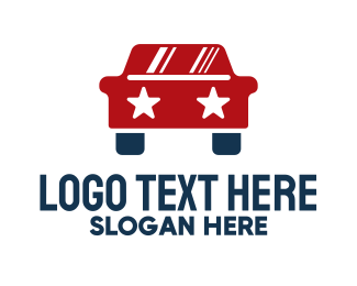 Ridesharing - American Star Automotive Car logo design