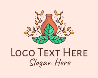 Natural Medicine - Flower Vase Decoration logo design