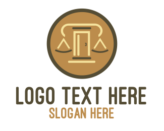 Judiciary - Legal Door logo design