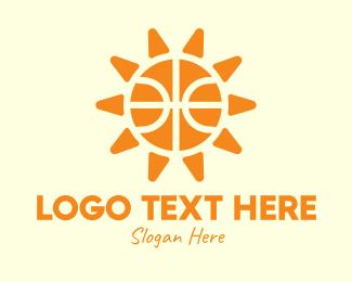 Daylight - Basketball Sun logo design