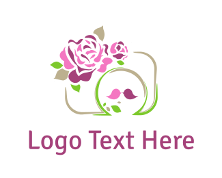 Marriage - Roses & Camera logo design