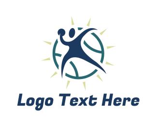 Mvp - Abstract Sport Player logo design