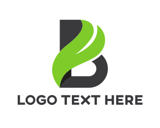 Swoosh - Elegant B Wave logo design