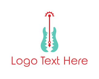 Folk - Winged Guitar logo design