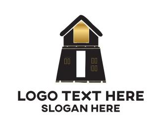 Cottage - Brown Building logo design